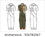 scout uniform color and non... | Shutterstock .eps vector #556782367