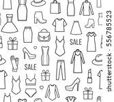 vector seamless pattern of ... | Shutterstock .eps vector #556785523