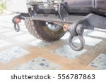 trailer hitch or towbar on the... | Shutterstock . vector #556787863