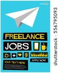 freelance jobs. apply now   ... | Shutterstock .eps vector #556795093