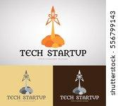 technology start up logo design ... | Shutterstock .eps vector #556799143