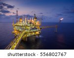 offshore oil and gas central... | Shutterstock . vector #556802767