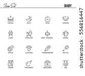 baby flat icon set. collection... | Shutterstock .eps vector #556816447