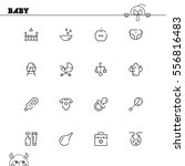 baby flat icon set. collection... | Shutterstock .eps vector #556816483