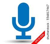 microphone icon. retro... | Shutterstock .eps vector #556817467