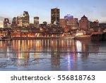 Montreal Skyline At Dusk In...