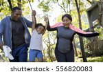 Stock photo exercise activity family outdoors vitality healthy 556820083