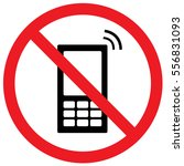 no cell phones sign. vector. | Shutterstock .eps vector #556831093