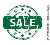rubber stamp with the word sale ... | Shutterstock .eps vector #556834603