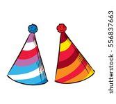 party hat. hand drawn vector... | Shutterstock .eps vector #556837663