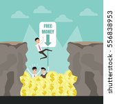 bottomless pit of money trap.... | Shutterstock .eps vector #556838953