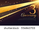 3rd anniversary celebration... | Shutterstock .eps vector #556863703