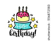 vector poster with phrase  cake ... | Shutterstock .eps vector #556872583