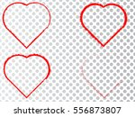 set of hearts . grunge stamps... | Shutterstock .eps vector #556873807