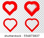 set of hearts . grunge stamps... | Shutterstock .eps vector #556873837