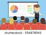 business presentation concept.... | Shutterstock . vector #556878043