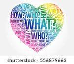 questions heart  question words ... | Shutterstock .eps vector #556879663