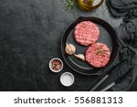raw burgers   cutlets from... | Shutterstock . vector #556881313