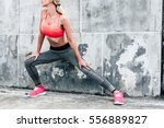 fitness sport woman in fashion... | Shutterstock . vector #556889827