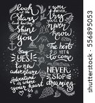 black inspirational quote... | Shutterstock .eps vector #556895053