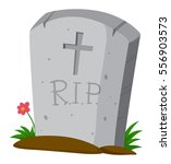 gravestone on the ground... | Shutterstock .eps vector #556903573