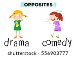 opposite words with drama and... | Shutterstock .eps vector #556903777
