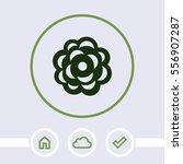 rose vector icon. | Shutterstock .eps vector #556907287