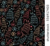 colorful seamless pattern with... | Shutterstock .eps vector #556917403