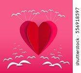 valentines day   illustration... | Shutterstock .eps vector #556918597