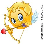 Cupid Emoticon With Bow And...