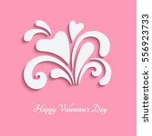 cutout paper swirls and hearts  ... | Shutterstock .eps vector #556923733