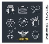 beekeeping. set of vintage... | Shutterstock . vector #556926253