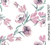 flowers seamless pattern.... | Shutterstock . vector #556928707