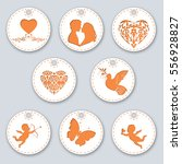 set of labels for valentine's... | Shutterstock .eps vector #556928827