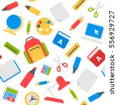 school seamless background... | Shutterstock .eps vector #556929727