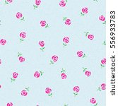 seamless pattern with roses | Shutterstock .eps vector #556933783
