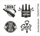 beer related quotes set. hand... | Shutterstock .eps vector #556937743