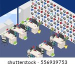 vector isometric office open... | Shutterstock .eps vector #556939753