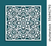 decorative panel with lace... | Shutterstock .eps vector #556941793