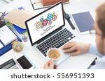 gears and business... | Shutterstock . vector #556951393