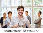 successful businessman as... | Shutterstock . vector #556953877