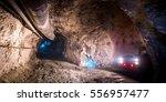 gold mining underground | Shutterstock . vector #556957477