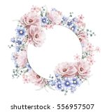 card  watercolor wedding... | Shutterstock . vector #556957507