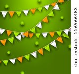 illustration festive flags with ... | Shutterstock .eps vector #556966483