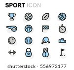 vector flat sport icons set | Shutterstock .eps vector #556972177