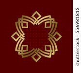 sacred geometric symbol of... | Shutterstock .eps vector #556981813
