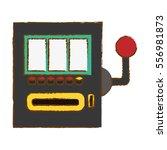 casino slot machine icon over... | Shutterstock .eps vector #556981873