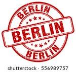 berlin. stamp. red round grunge ... | Shutterstock .eps vector #556989757