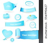 set of labels and stickers.   Shutterstock .eps vector #556990627