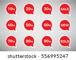 collection of sale discount...   Shutterstock .eps vector #556995247